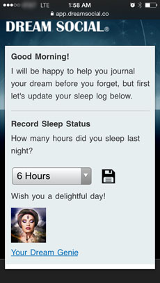 screen-shot Genie - Hours Slept