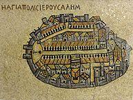 Mosaic - Cityscape of Jerusalem
